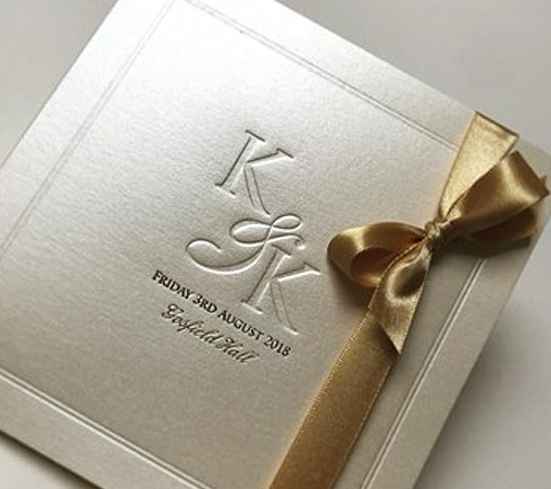 Embossed Invitation with Bow