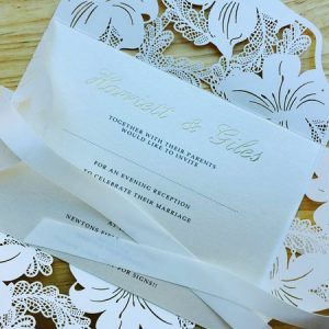 Vintage Lace Evening Invitation