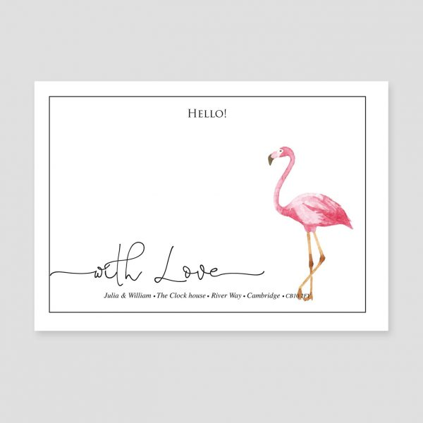 Card With Flamingo Image