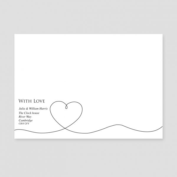 Card with Heart Image