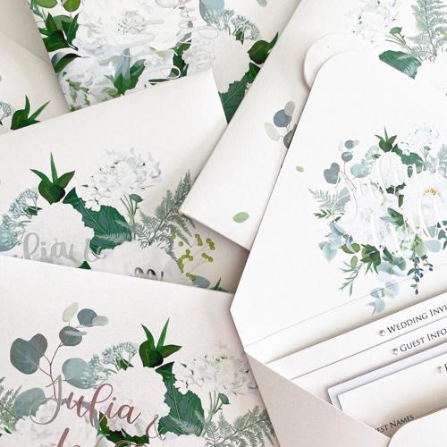 Floral Designed Invite